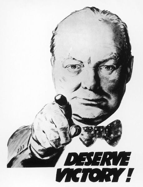 Winston Churchill says we 'Deserve Victory!&#39
