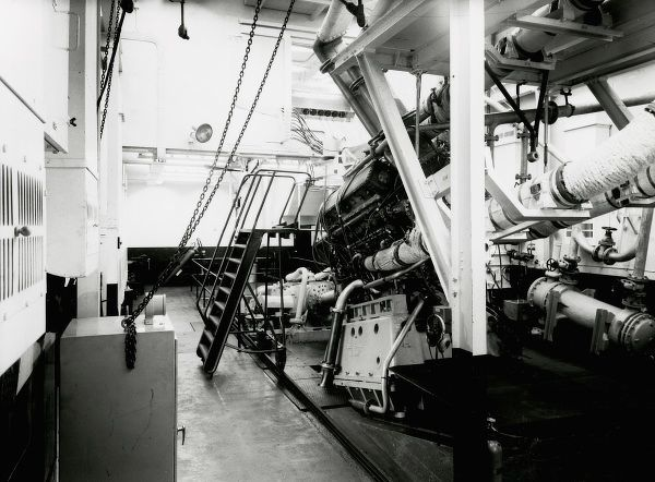 Development engine in test house May 1950 Date: 1950