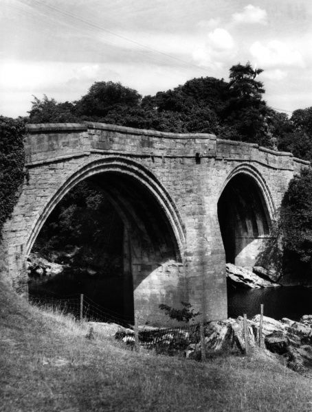 The Devil's Bridge, spanning the River Lune at Kirkby Lonsdale, Cumbria, England. Date: 14th century