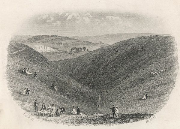 Part of the Devil's Dyke, near Brighton, Suffolk