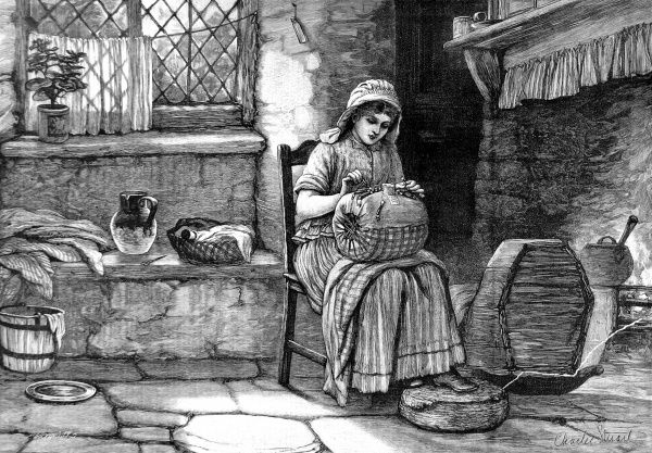 Lace-making was a typical cottage industry and could be carried out independently by women in their homes
