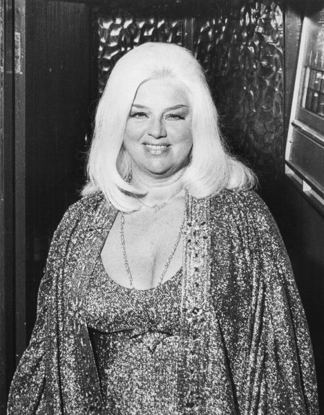 Diana Dors (1931-1984), English actress, singer, film star and sex symbol. Seen here in later life, at the famous First and Last Inn at the village of Sennen, Land's End, Cornwall