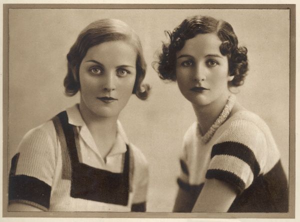 DIANA AND NANCY FREEMAN MITFORD Two of the infamous Mitford sisters; Mrs Bryan Guiness (Diana) on the left and Nancy Mitford (later Mrs Peter Rodd), novelist, on right