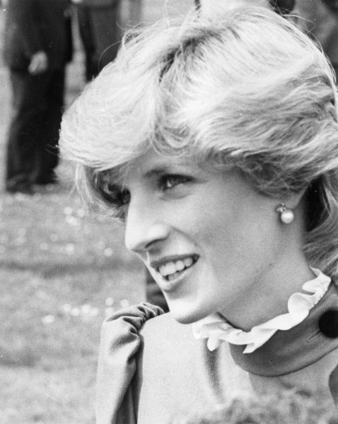 A portrait of Diana, Princess of Wales (1961-1997) visiting St. Columb, Cornwall