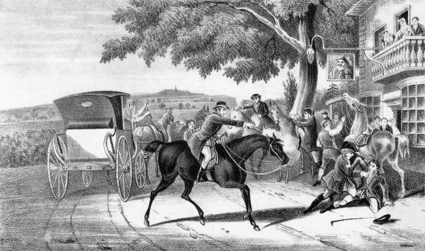 Dick Turpin shoots fellow highwayman, Tom King Date: 1839