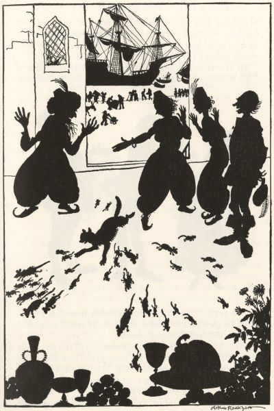 Dick Whittington arrives on the coast of Barbary, and everyone from the ship is entertained by the Moors. When they are invaded by rats and mice, Dick's cat is brought from the ship to kill the vermin. Date: 1933