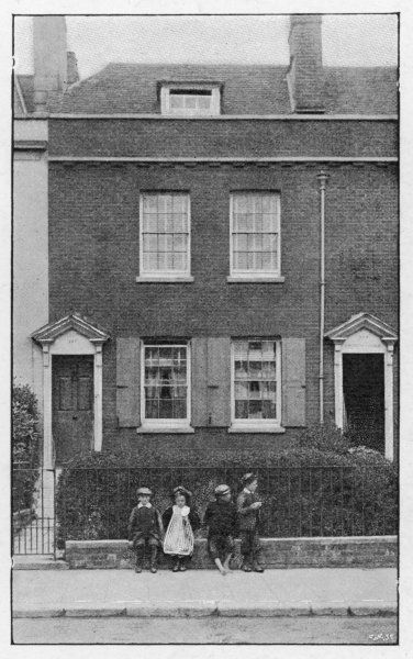 HIS BIRTHPLACE at 387 Mile End Terrace, Commercial Road, Landport, Portsmouth, where Charles Dickens was born on 7 February 1812