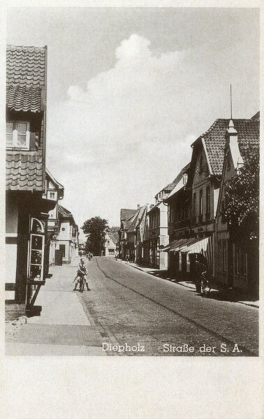 Diepholz, a town and capital of the district of Diepholz, in Lower Saxony, Germany. Date: circa 1920s