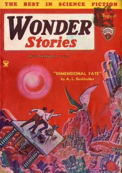 'DIMENSIONAL FATE' (A L Burkholder) Earthmen explore the Fouth Dimension Date: 1934