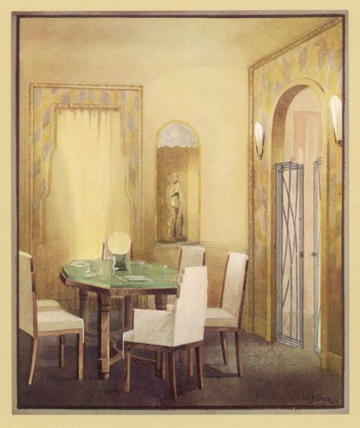 Suggestion for the dining room designed by Trollope Studios