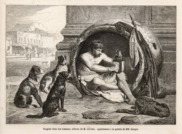 Diogenes (412-323 BC), Greek philosopher in his home