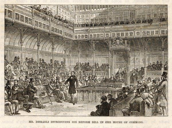 Disraeli introduces his Reform Bill which would add more than one million voters to the electorate