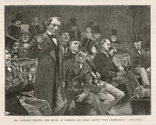 Tory Prime Minister Benjamin Disraeli speaks during a debate on Irish Home Rule