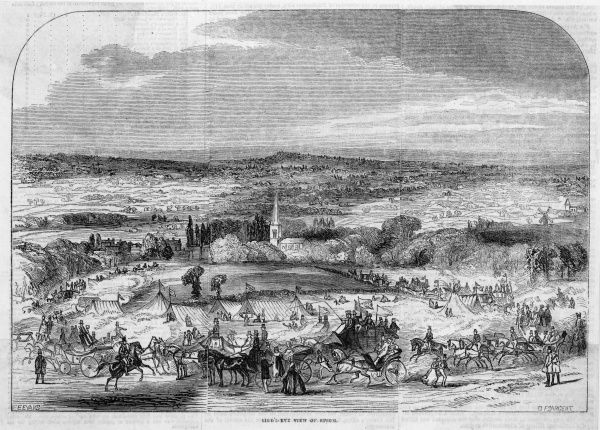 Distant view of Epsom, Surrey