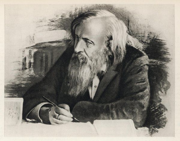 DMITRI IVANOVICH MENDELEEV Russian chemist, noted for production of the periodic law, enabling him to predict hitherto undiscovered elements