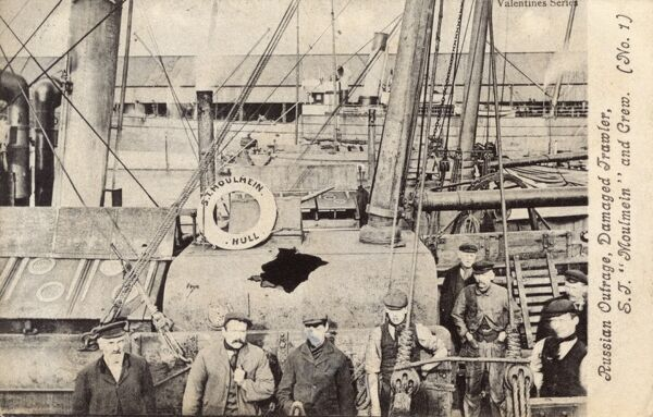 The Dogger Bank Incident (or 'Russian Outrage') occured on the 22nd October 1904, when the Russian Fleet (sailing to reinforce the 1st Pacific Squadron stationed at Port Arthur during the Russo-Japanese War) mistook 48 harmless British