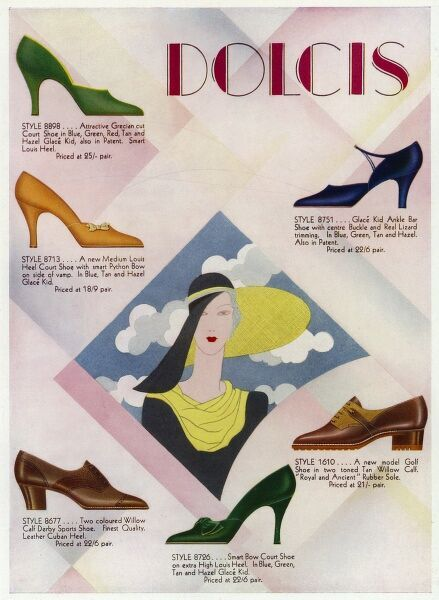Advertisement for Dolcis shoes Date: 1931
