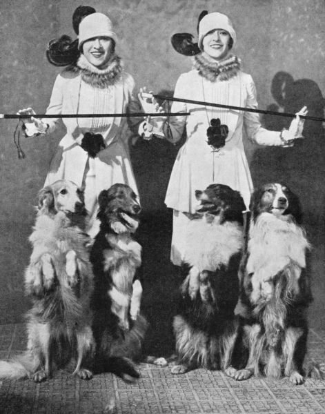 The Dolly Sisters in the Dollies and the Collies number (unknown production and date but 1920s)