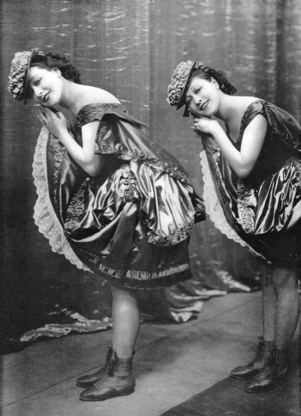 The Dolly Sisters doing their clog dance in League of Notions, London, 1921