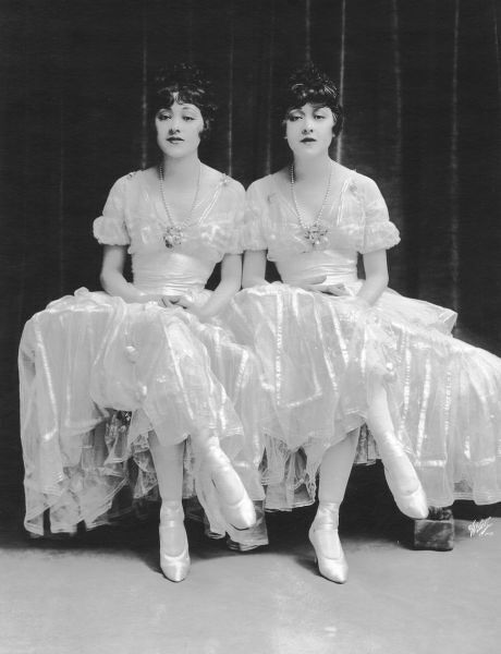 The Dolly Sisters in His Bridal Night, Republic Theatre, New York, 1916 in creations by Lucile (Lady Duff Gordon)