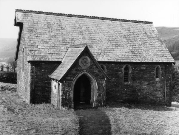 Dolygaer Chapel, near the Taff Fechan Reservoir. When the reservoir was constructed the village of Dolygaer was submerged. The chapel is now a private residence. Date: 19th century