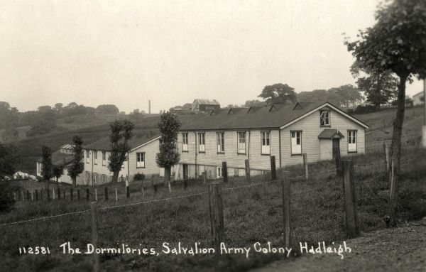 Dormitory blocks at the Salvation Army's labour colony at Hadleigh in Essex. Founded in 1891 as a farming colony, the centre is still in existence today as a Salvation Army employment training centre