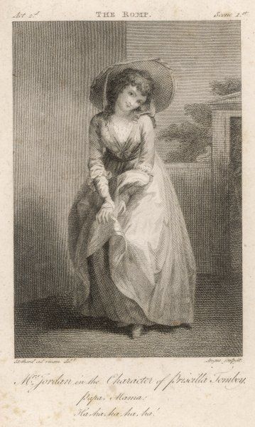 DOROTHEA JORDAN (nee Bland) actress and mistress of William IV ; as Priscilla Tomboy in 'The Romp' a comic opera after Bickerstaff's 'Love in the city' Date: 1762 - 1818