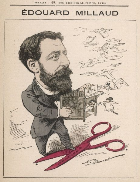 douard Millaud, (1834-1912) French Jewish politician, Rhone Senator from 1880 to 1912