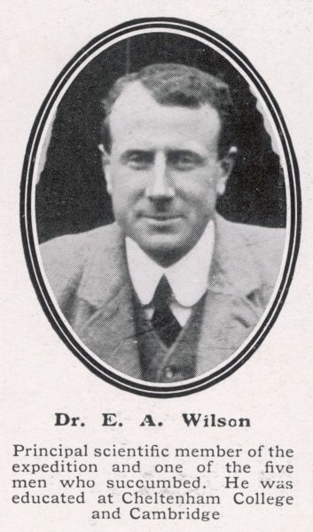 Dr Edward Wilson, biologist and artist on the British Antarctic Expedition led by Captain Scott. Wilson died along with Scott and Bowers in their tents during a blizzard in March 1912