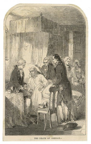 DR SAMUEL JOHNSON On his deathbed
