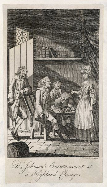 DR SAMUEL JOHNSON With Boswell, during their Highland tour