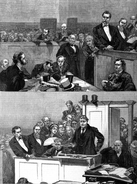 The trial of Henry Slade, the medium who was said to communicate with spirits by a slate board