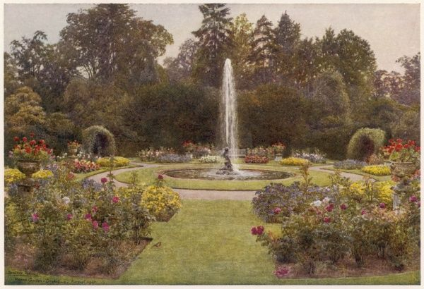 A fountain in the garden of Sir Robert Gresley on the Trent