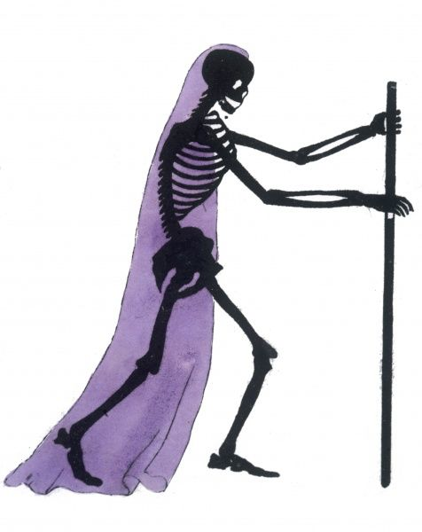 Draped skeleton