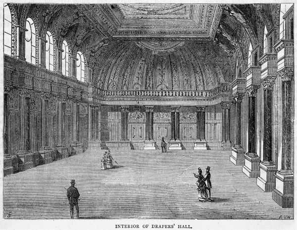 The interior of Drapers' Hall