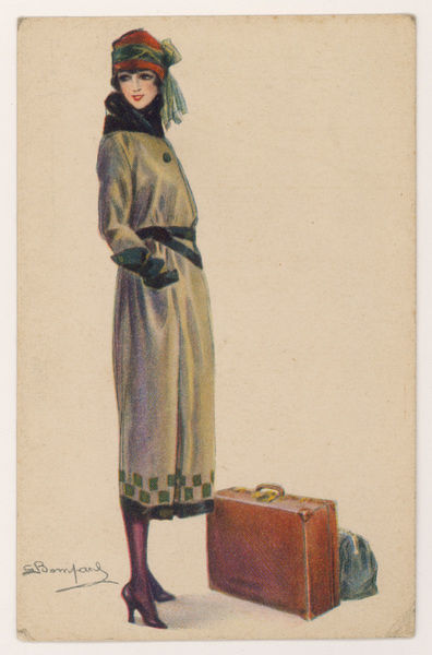 Lady dressed for travel