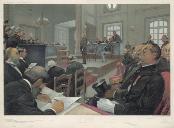 Dreyfus stands trial again at Rennes