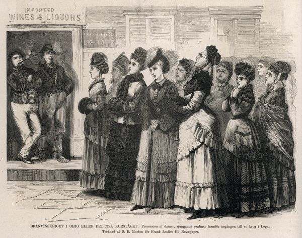 The good ladies of Logan, Ohio, sing psalms outside a bar, hoping to put the drinkers off their tipple