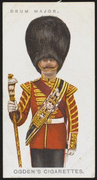 Drum Major from the Coldstream Guards. Raised in 1650, it received its title at the time of the Restoration