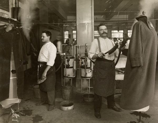 American Gas Appliance Co., Men Cleaning Overcoats
