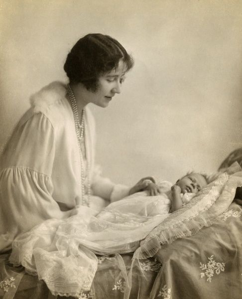 The Duchess of York photographed with the baby Princess Elizabeth. Date: 1926