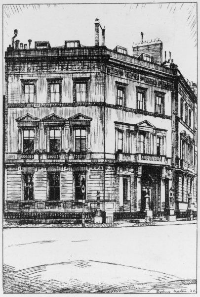 Situated at number 10 Buckingham Gate, SW1. Built for the Duchy of Cornwall in 1854 by Sir James Pennethorne - not Pennethorpe as this card states!
