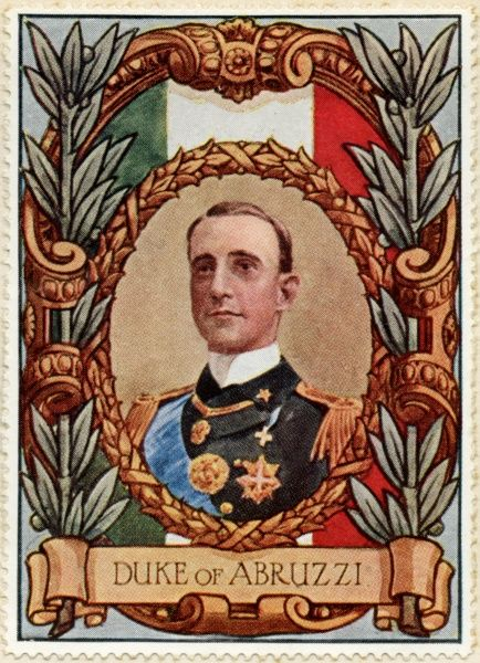 LUIGI AMEDEO, DUKE OF THE ABRUZZI & PRINCE OF SAVOY-AOSTA. Italian explorer and naval officer