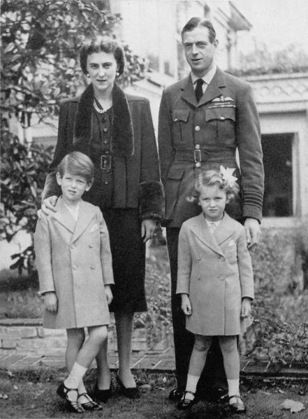 Prince George, Duke of Kent (1902-1942), Princess Marina, Duchess of Kent (1906-1968) and their two eldest children, Edward (born 1935 and the current Duke of Kent) and Alexandra (born 1936)
