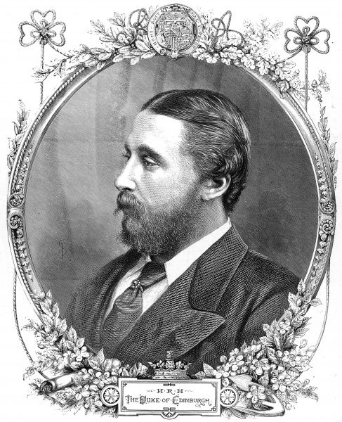 Prince Alfred, Duke of Edinburgh (1844-1900), the second son and fourth child of Queen Victoria and Prince Albert
