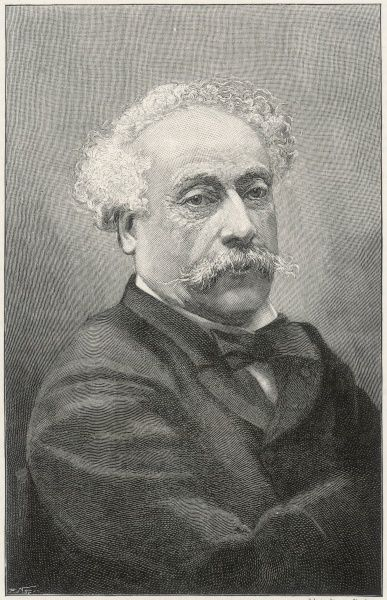 ALEXANDRE DUMAS fils French writer at the end of his life