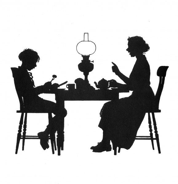 Dunderpate and his mother at the supper table. To further his fortune, he decides to get married. Date: 1938