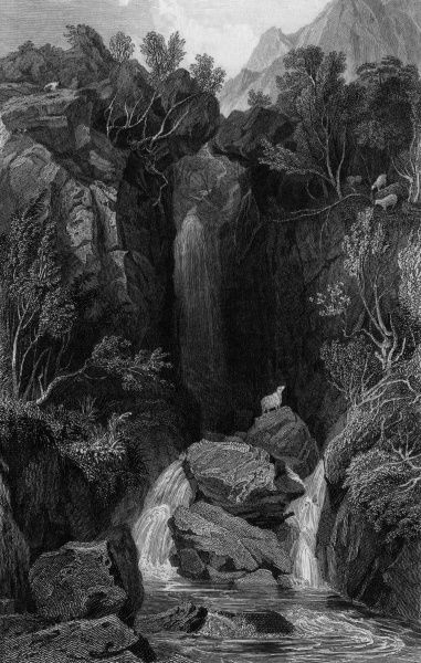 Dungeon Ghyll (or Gill), Cumbria Date: 1832