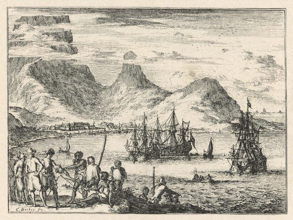 Cape Town, South Africa: the harbour with ships