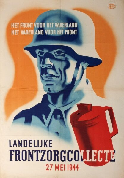 Dutch poster advertising a National Collection on behalf of the Fatherland (ie the German Reich), during the Second World War